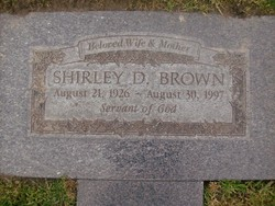 Shirley D Brown