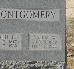 "Sarah Jane ""Sallie"" <I>Whittington</I> Montgomery"