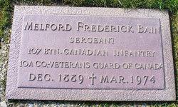 Sgt Melford Frederick Bain