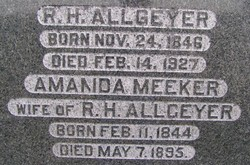 "Amanda ""Mary"" <I>Meeker</I> Allgeyer"