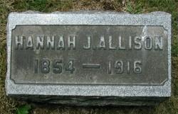 Hannah Jane <I>Tullis</I> Allison