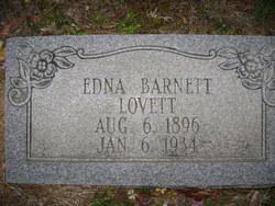 Edna H. <I>Barnett</I> Lovett