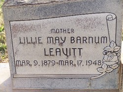 Lillie May <I>Barnum</I> Leavitt