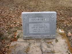 Martha Ann <I>Ainsworth</I> Ainsworth