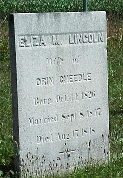 Eliza M. <I>Lincoln</I> Cheedle