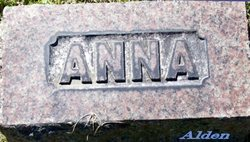 Anna <I>Howland</I> Alden