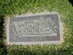 Arthella <I>Turner</I> Bateman