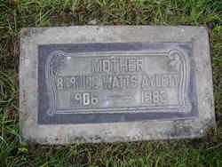Bernice <I>Watts</I> Aylett