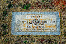 Billy Paul Horne