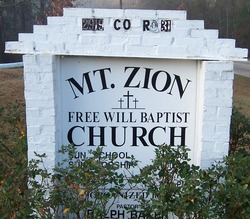 Mount Zion Free Will Baptist Church Cemetery