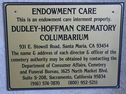 Dudley-Hoffman Memory Gardens Columbarium