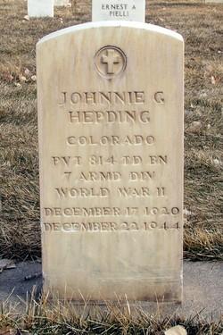 Pvt Johnnie G. Hepding