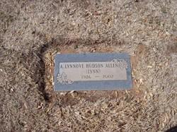 """A. Lynnove """"Lynn"""" <I>Hudson</I> Allen"""