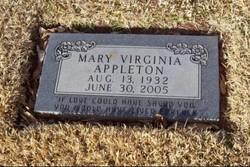 Mary Virginia <I>Burford</I> Appleton