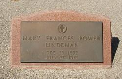 Mary Frances Power <I>Dickson</I> Lindemann