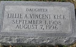 Lillie A. <I>Vincent</I> Keck