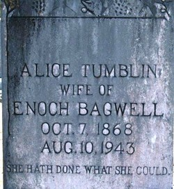 Alice <I>Tumblin</I> Bagwell