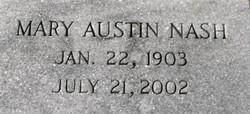 Mary <I>Austin</I> Nash