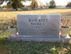 Rheba Latricia <I>Hamilton</I> Bancroft