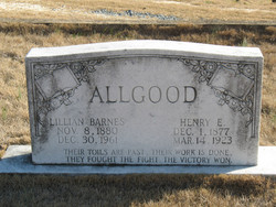 Lillian <I>Barnes</I> Allgood