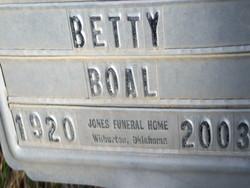 Betty Ruth <I>Ratliff</I> Boal