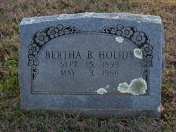 Bertha <I>Burch</I> Holidy