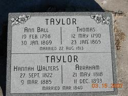 Hannah Varney <I>Walters</I> Taylor