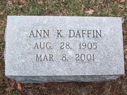 Ann <I>Kemp</I> Daffin