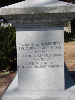 Eliza Hill <I>Humphrey</I> Simmons