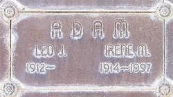 Irene Mildred <I>Haugen</I> Adam