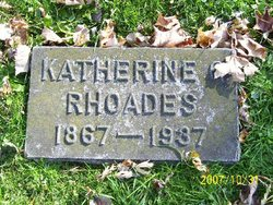 Katherine <I>Greene</I> Rhoades