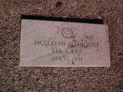 Jacquelyn <I>Cook</I> Summerour