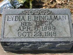Lydia E. <I>Bingaman</I> Beck