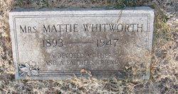 "Martha Mae ""Mattie"" <I>Scroggins</I> Whitworth"