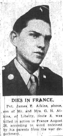Pvt. James E Atkins
