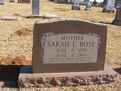 Sarah Elizabeth <I>Walker</I> Rose