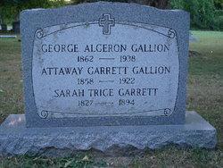"""Mrs Attaway Eveline """"Eva"""" <I>Garrett</I> Gallion"""
