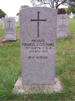 "Pvt Francis James ""Frank"" Culhane"