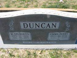 Mary Emma <I>Perry</I> Duncan