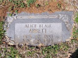 Alice <I>Blair</I> Abbett