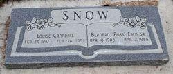 """Bernard Eben """"Buss"""" Snow, Sr"""