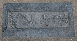 Portia Virginia <I>Davis</I> Crandall