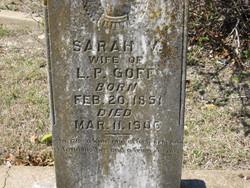 Sarah V <I>Brim</I> Goff