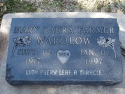 Mary Laura <I>Farmer</I> Wardlow