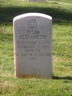 Julia Elizabeth <I>Kennedy</I> Adams