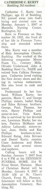 Catherine C. <I>Phillips</I> Kurty