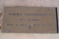 PVT Albert Augustus Cadenhead Jr.