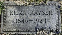 Eliza Kayser