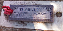 Annette Hatch <I>Anderson</I> Thornley