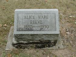 "Mary Alice ""Allie / Alice"" <I>Huddleston</I> Ware Reeve"